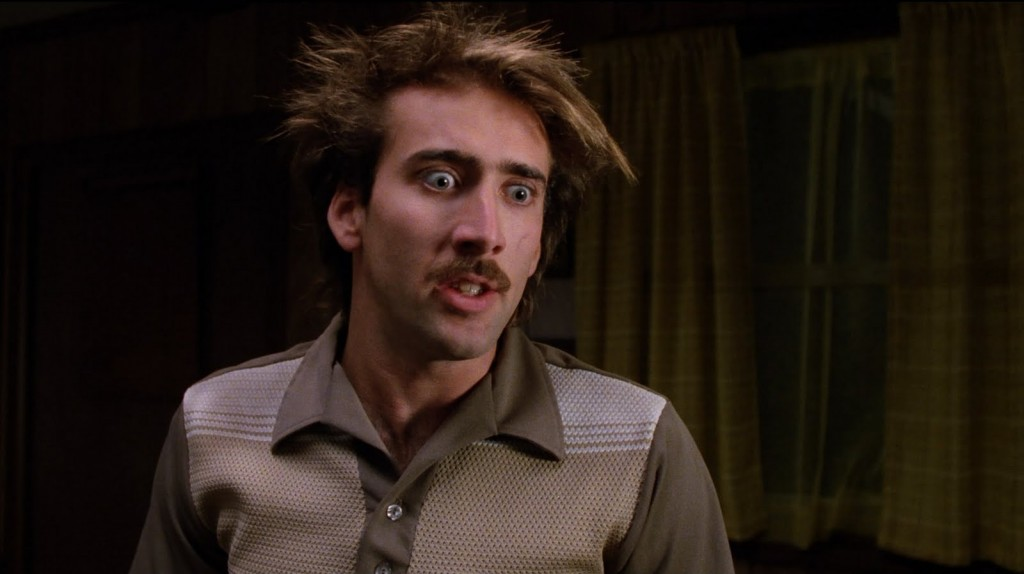 Nicholas Cage as H.I. McDunnough in Raising Arizona (1987)
