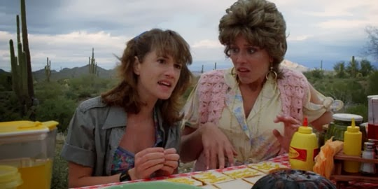 Holly Hunter and Frances McDormand in Raising Arizona (1987)