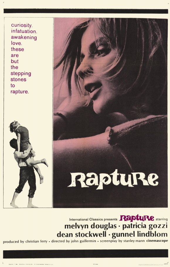 English language poster for Rapture (1965)
