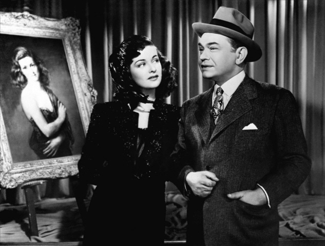 Joan Bennett and Edward G. Robinson in The Woman in the Window (1944)